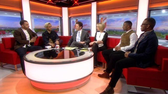 JLS in the BBC Breakfast studio