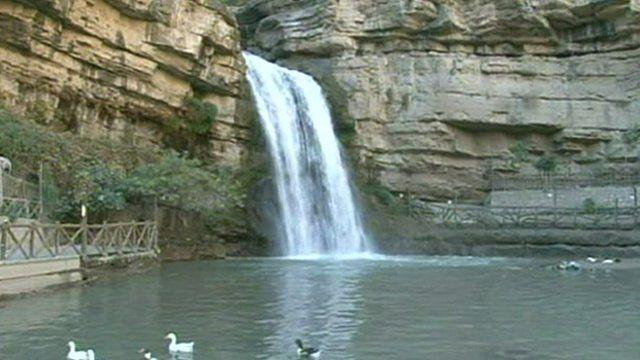 A waterfall in Kurdistan