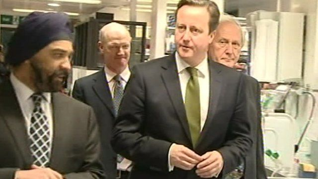 David Cameron at Cambridge Cancer Research Institute