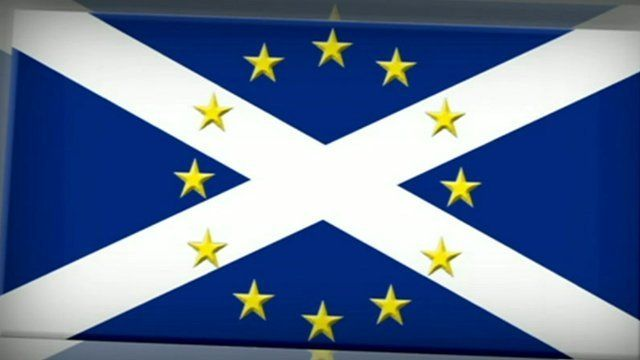 Scottish/EU flags combined