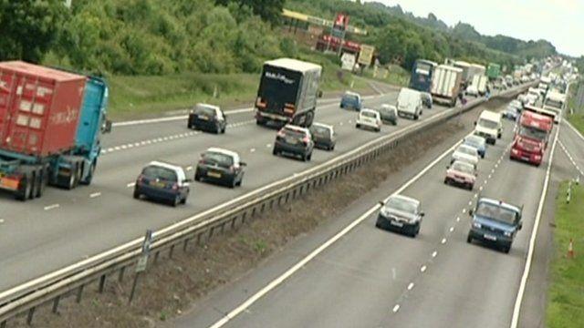 Vehicles on motorway