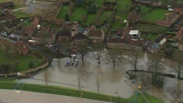 Flood water in Malton