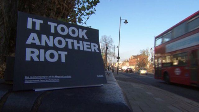 Report into last year's Tottenham riots