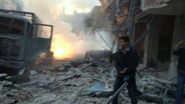 Damascus battle scene