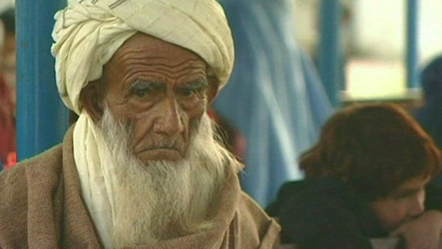 An Afghan refugee in Pakistan
