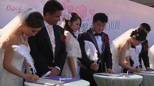 Group wedding in Hong Kong