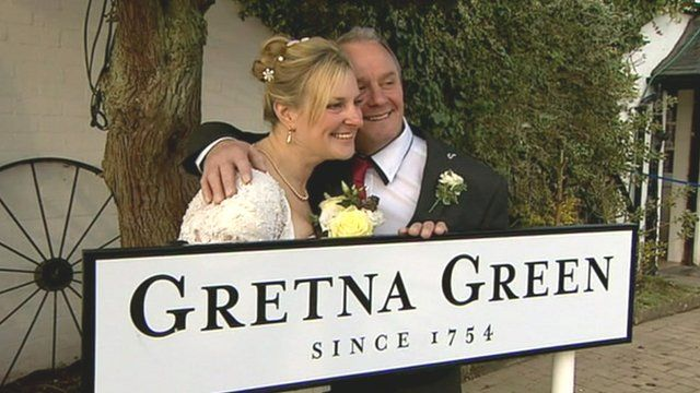Couple married at Gretna Green