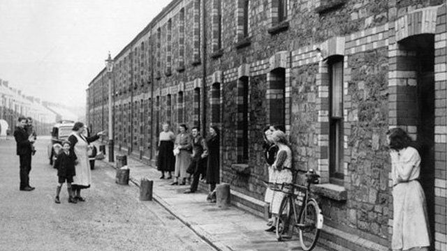 A traditional terrace in Port Talbot, pictured shortly before demolition in 1938