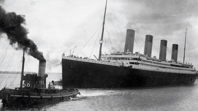 Titanic leaving Southampton [Pic: AFP/Getty Images]