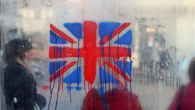A painted British union flag
