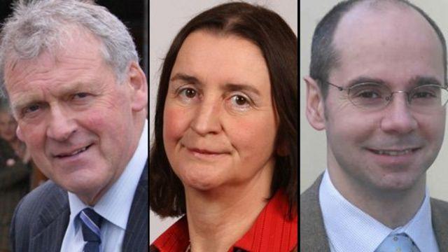 Glyn Davies MP, Nia Griffith MP and Simon Thomas AM
