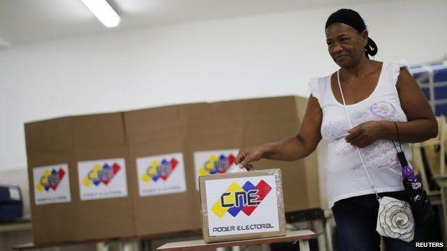 Voter casts ballot