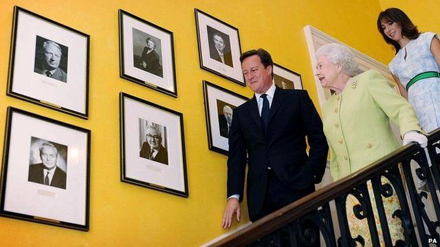The Queen, pictured on a visit to Downing Street in June 2011