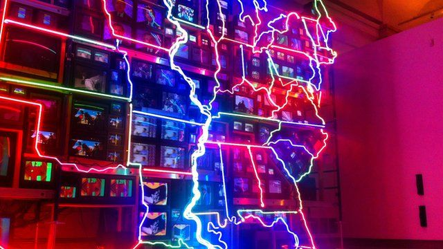 Nam June Paik's installation Electronic Superhighway
