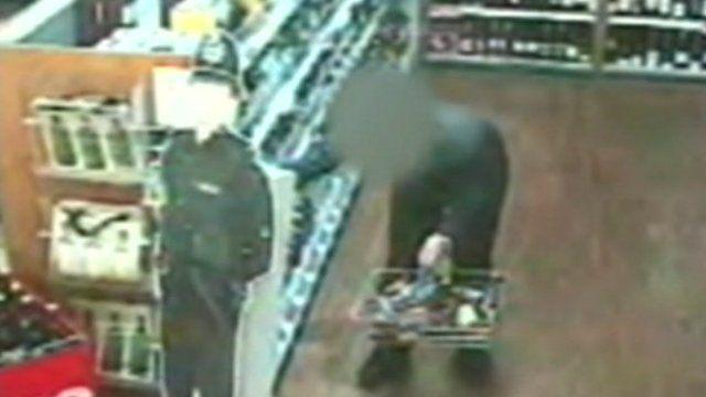 CCTV image of shoplifter