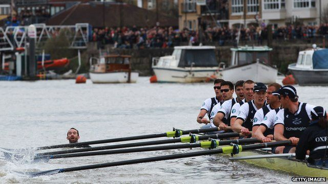 Trenton temporarily disrupting the Oxford Cambridge boat race