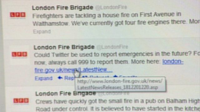 The London Fire Brigade has used social media to tackle fires in the past