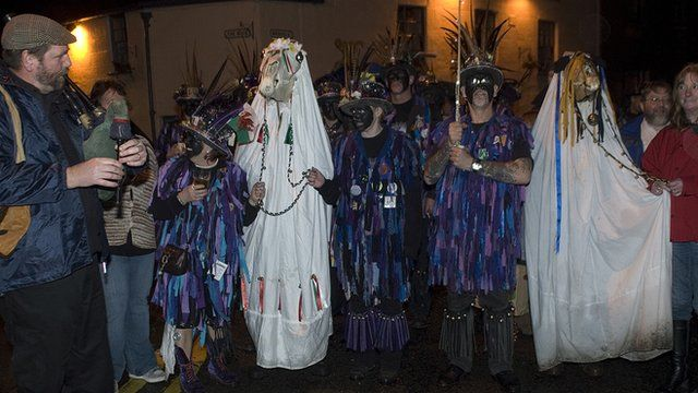 The Widders Morris perform the Mari Lwyd in Chepstow