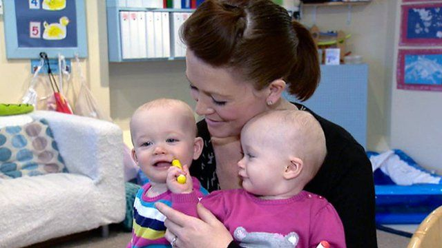Mum Sarah with daughters Sophie and Lucie