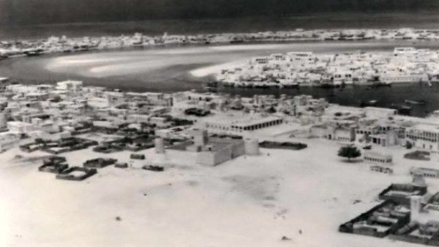 A photo of Dubai in the 1950s
