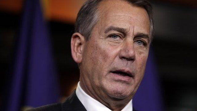 US Speaker of the House John Boehner 20 December 2012