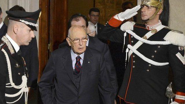 Italian President Giorgio Napolitano