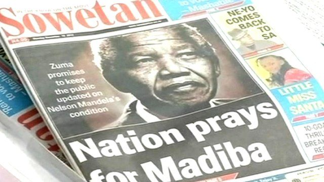 Newspaper with picture of Nelson Mandela
