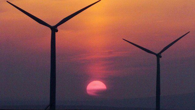 Wind turbines in Scotland