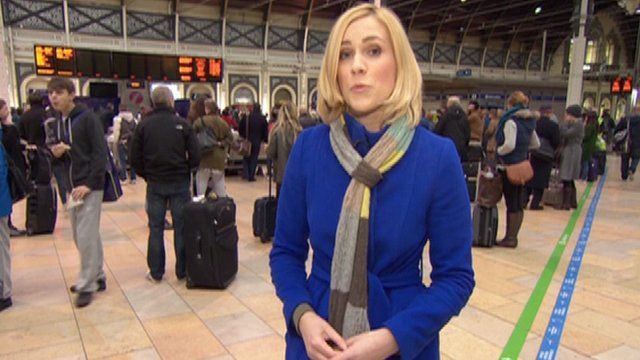 BBC London reporter Sonja Jessup at Paddington