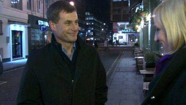 O2 chief executive Ronan Dunne and Steph McGovern