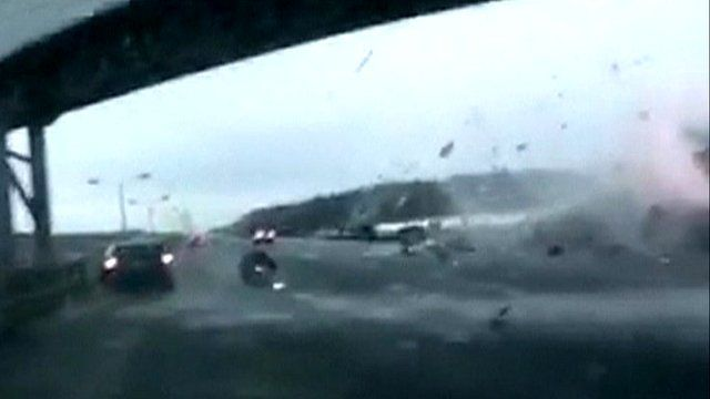 Impact of plane crash captured