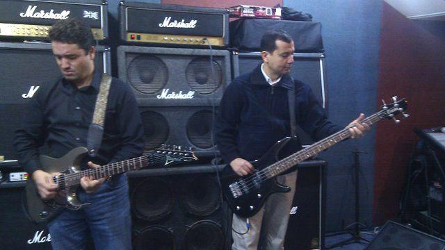 Members of heavy metal group The BlackForce
