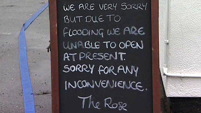 Sign at The Rose in Stapleford