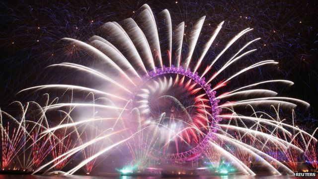 Fireworks display in London