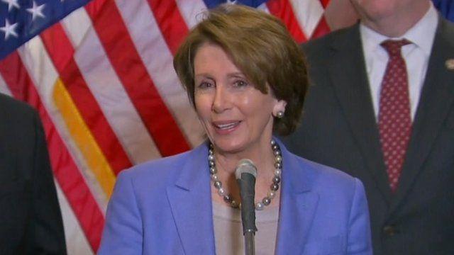 US House Democratic leader Nancy Pelosi