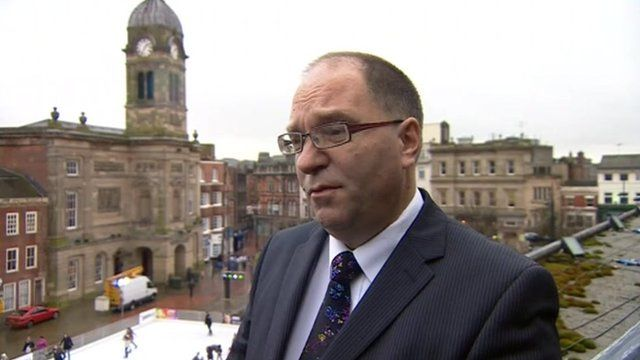 Derby City Council leader Paul Bayliss