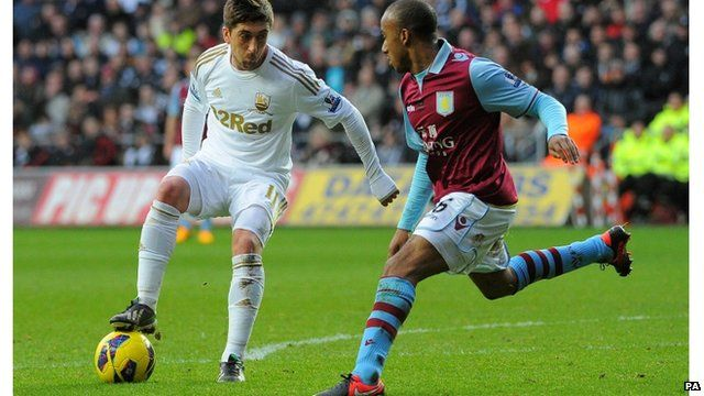 Swansea City in action at the Liberty Stadium