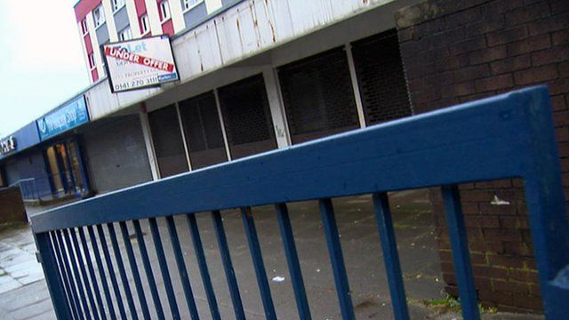 Disused commercial property