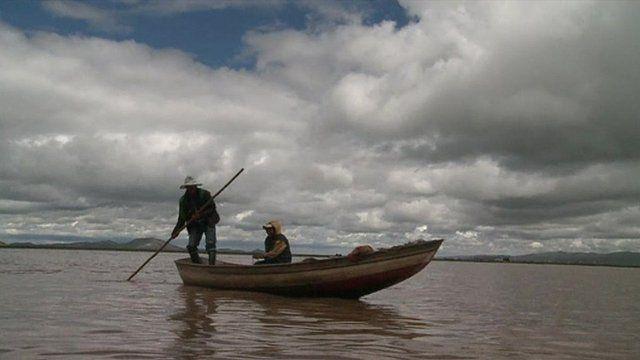 Fishermen on Lake Titicaca