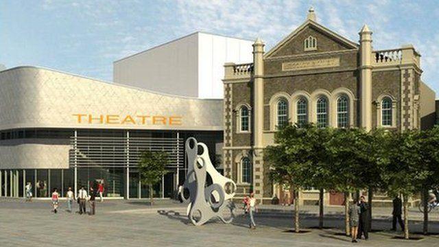 Artist's impression of new cultural centre in Llanelli