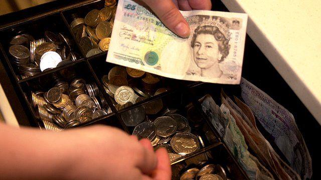 Cash till in shop