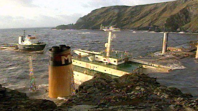 MV Braer off Shetland