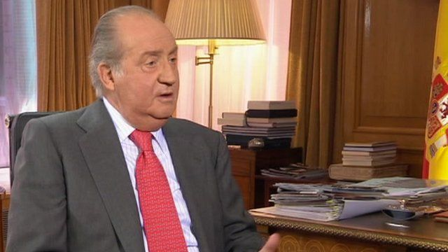 King Juan Carlos rarely gives TV interviews