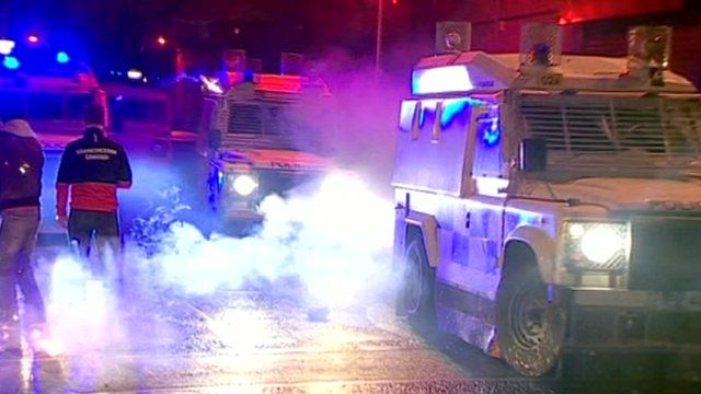 Clashes in Belfast