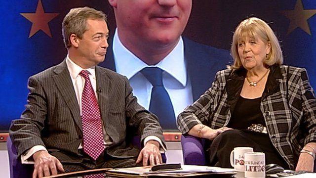 Nigel Farage and Cheryl Gillan