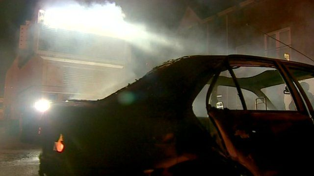 Burned out car in Belfast