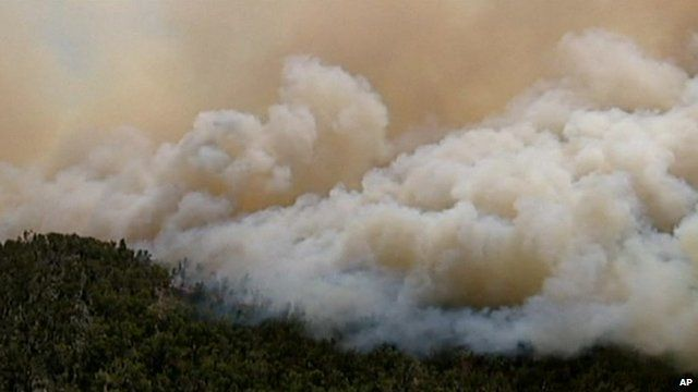 Smoke from fires