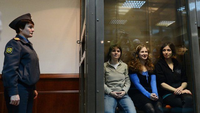 Pussy Riot punk band in Russian court