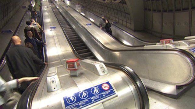 Escalator on the Underground