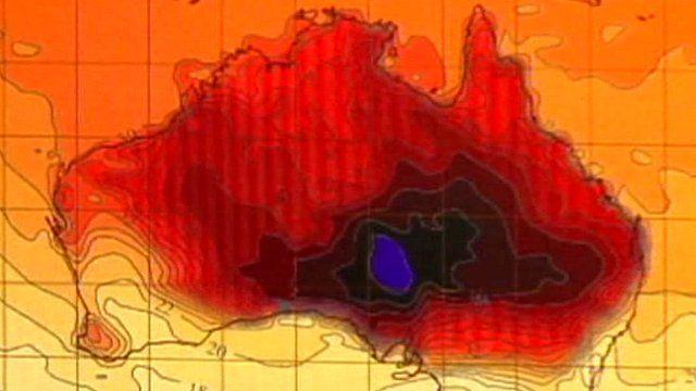 Australia heat map